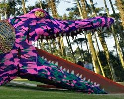 Alligator - crocheted