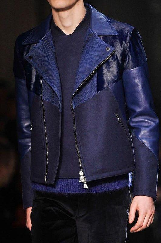 Neil Barrett FW13 14 Black Leather Python FUR Wool Biker Jacket RRP $3990 | eBay