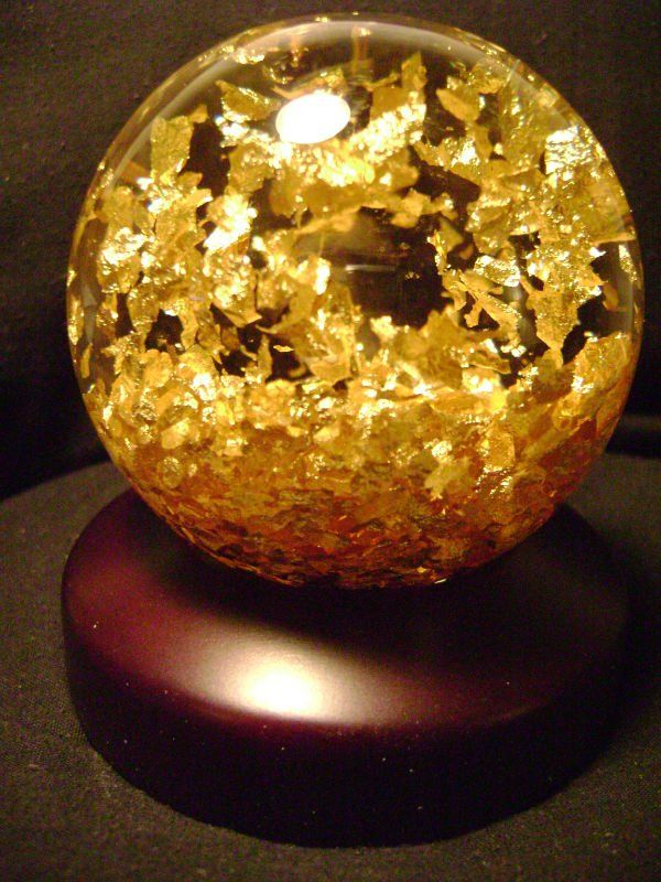 Golden Snow Globe, View 24 Karat Gold, Golden Rain Product Details ...