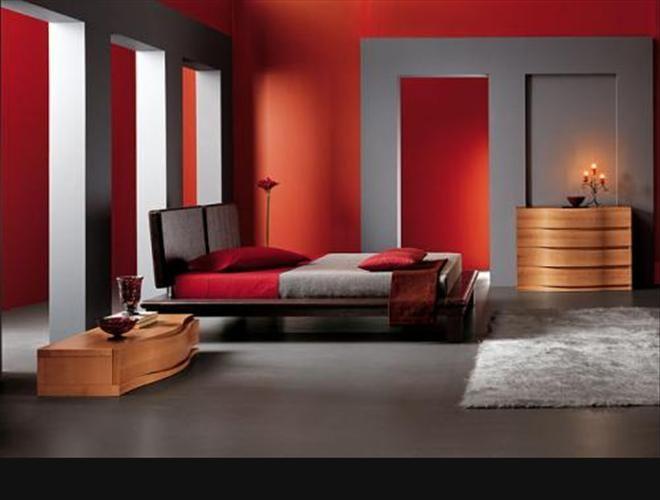 Interiores modernos en gris y rojo                                                                                                                                                      Más