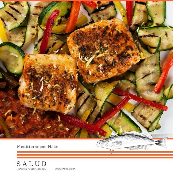 Meditteranean Hake   Healthy prepared take home meals delivered to you.   www.salud.co.za