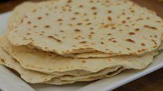 Zelfgemaakte Tortilla wraps