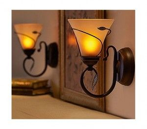 Battery operated wall sconces with 5 hour timer!