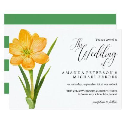 Trendy Flower Yellow Crocus rustic wedding Card - rustic wedding marriage love cyo