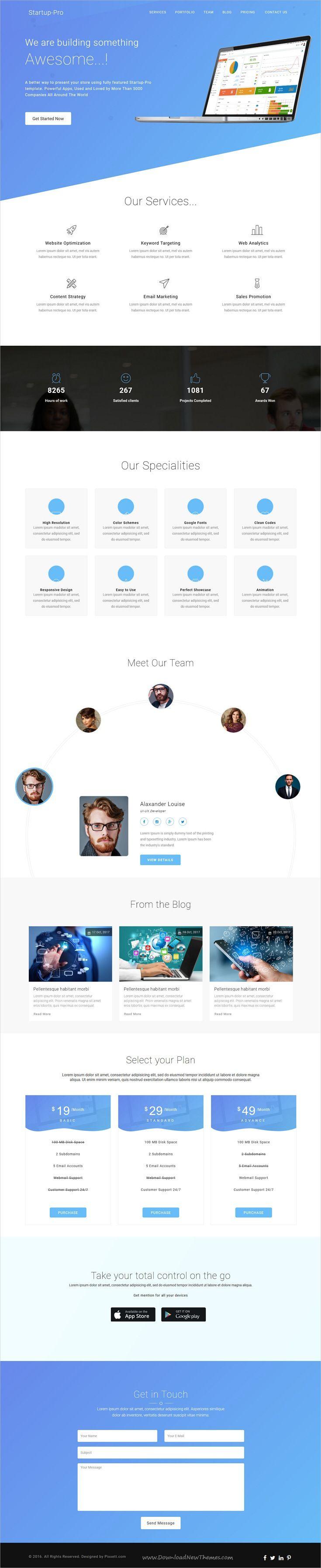Startup Pro - Software, SaaS, WebApp Development Template