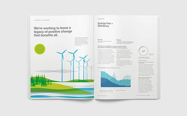 Steelcase 2014 Sustainability Report on Behance