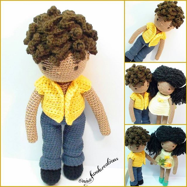 He finally found his clothes and he is ready to offer a flower to his girlfriend Abigail! #crochet#crochetdoll#amigurumi#amigurumidoll#isabellekessedjian#mycrochetdoll #handmade#toys