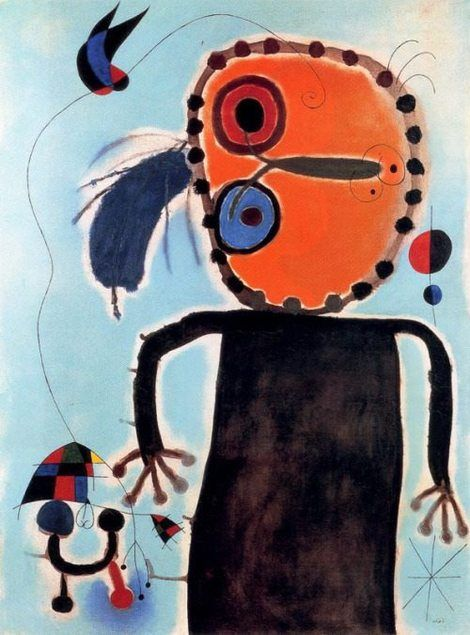 Joan Miró, Le disque rouge chasse Alouette on ArtStack #joan-miro #art