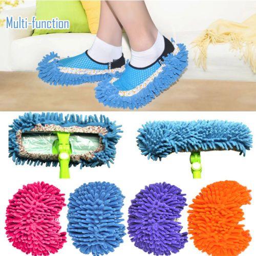 2Pcs/Set House Floor Foot Sock Shoe Mop Slipper Lazy Quick Polishing Cleaning Dusting