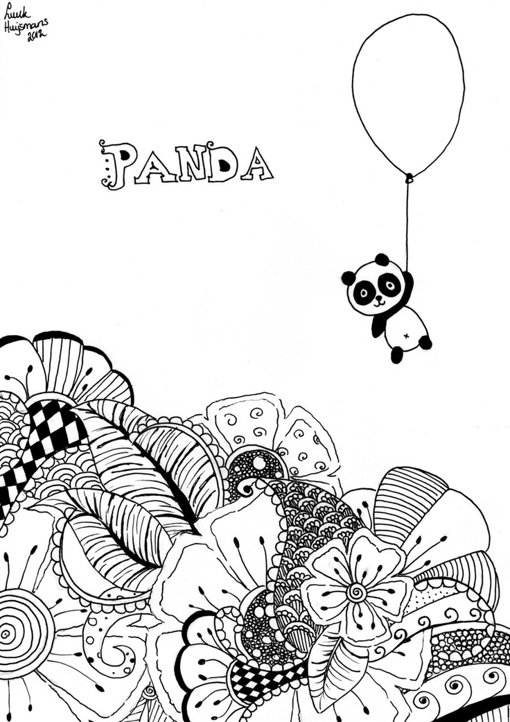Panda Doodle By Luukjah On Deviantart Shapes Colors