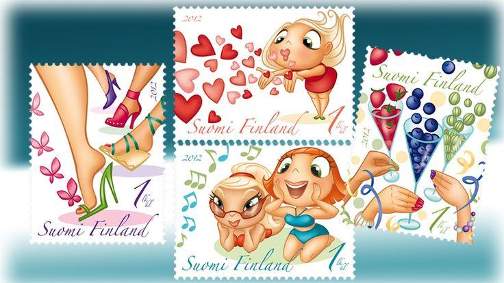 €3.40 Lentosuukkoja - neljän (4) postimerkin vihko