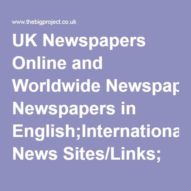 Englanninkieliset sanomalehdet.