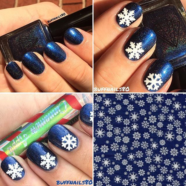 Ladies and gents I have the stunning @meeboxuk  December Holo Wonderland box to show you today. First up is the stunning and meebox exclusive @prismpolishuk Loyalty Loyalty Loyalty, which is a stunning deep and rich blue holographic polish 💙 the lovely suzie has some an incredible job with this beauty, i our the beautiful snowflake vinyls from @caution.vinyls ❄️ and finished my nails with the wonderfully nourishing and delicious smelling apple cinnamon @nafsalon @nafstuff cuticle oil (I'm…