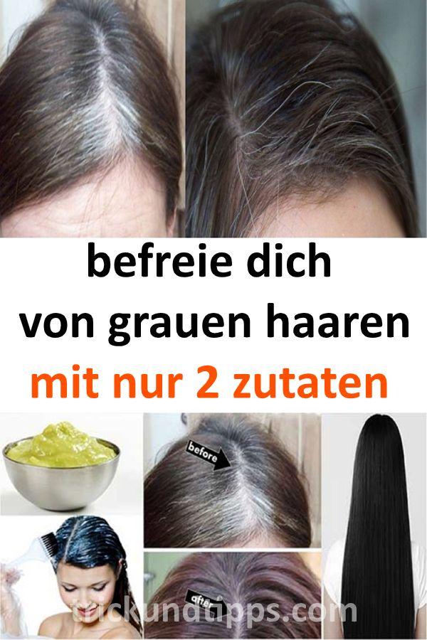 befreie dich von grauen haaren mit nur 2 zutaten #