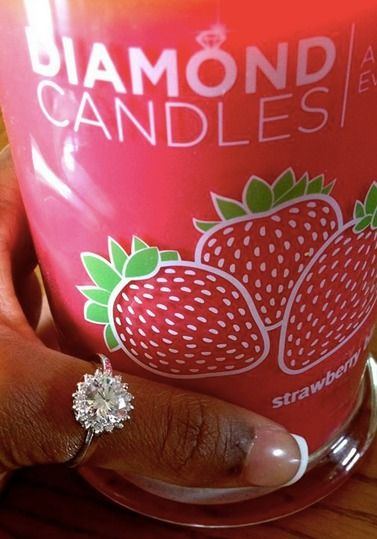 What a lovely ring that this Diamond Candles customer found inside of her Ring Candle!
