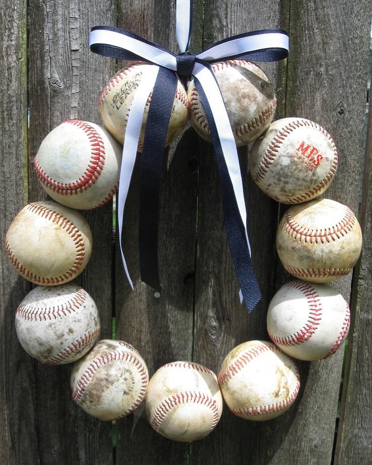 New York Yankees Baseball Love Wreath