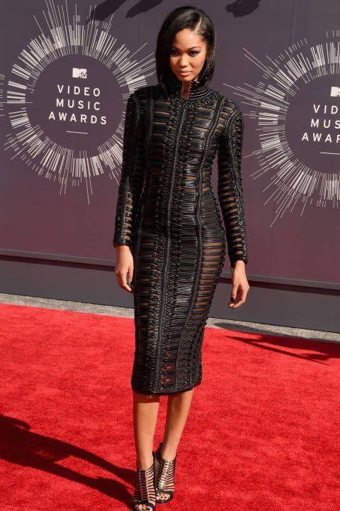 Chanel in leather gear ... 1 word SHEEK!