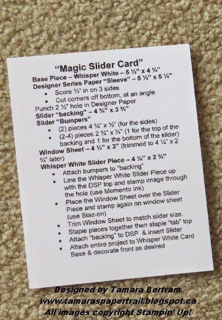 Tamara's Paper Trail: Magic Slider Card Tutorial                                                                                                                                                                                 More