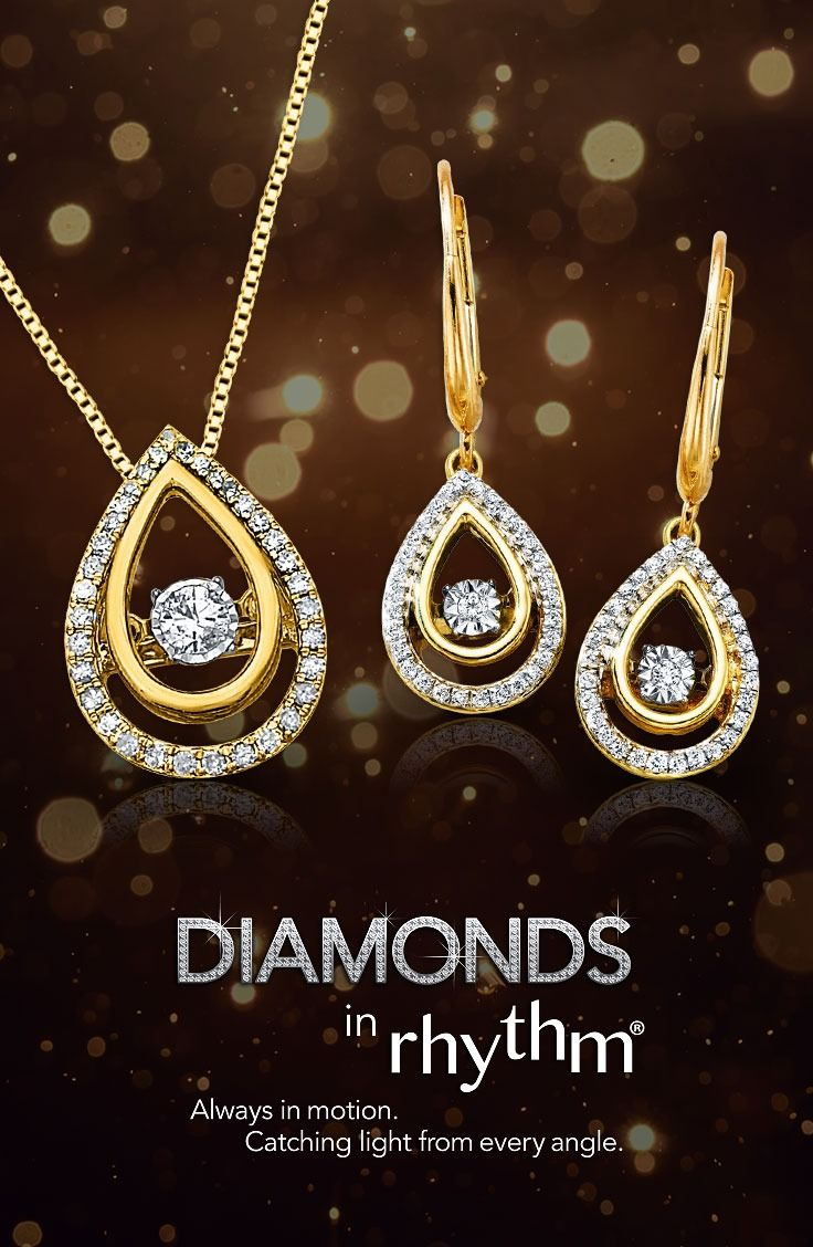 You will make a stunning statement on your wedding day with diamonds that sparkle at every angle from the Diamonds in Rhythm collection.