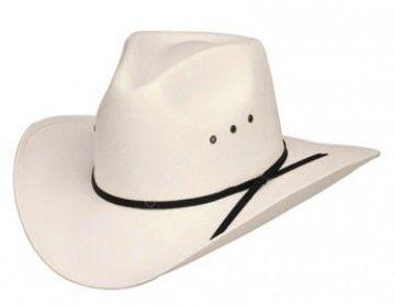 Corbeto's Boots   53-CA3   Sombrero cowboy blanco plastificado   White bangora straw cowboy hat.