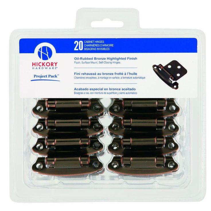 Hickory Hardware Oil Rubbed Bronze Surface Self Closing Flush Hinges   20 Pack. Best 20  Flush hinges ideas on Pinterest