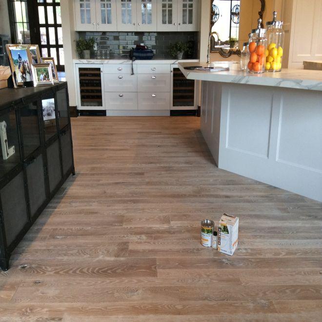 Pallmann Magic Oil White Color featured on 5'' White Oak in a Kitchen (Jay Jenkins, Wood Floors Inc).