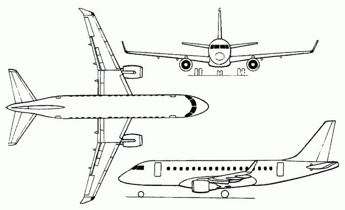 Embraer Erj 170 E Jet Schematic