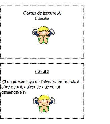 Classe de madame Bernice: petites cartes pour le centre de littératie