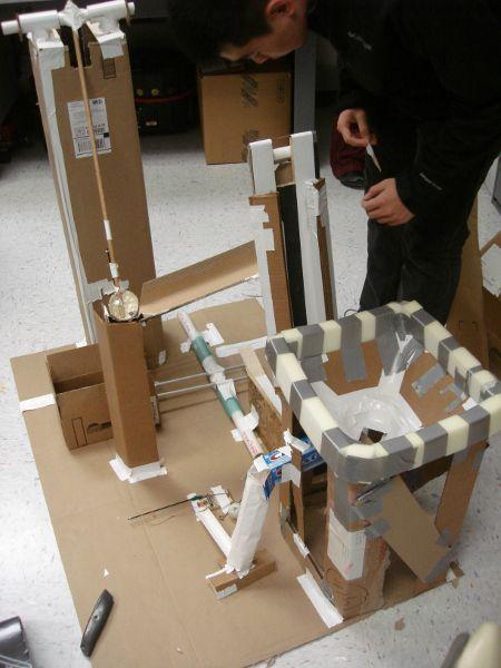 cardboard rube goldberg machine