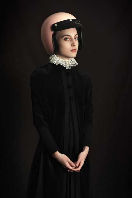 Pink Helmet by Romina Ressia