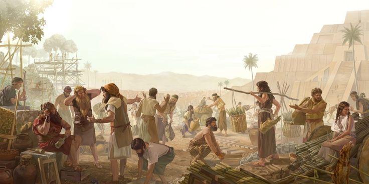 La gente nopudo seguir trabajando en la Torre de Babel después que Jehová les confundió el idioma