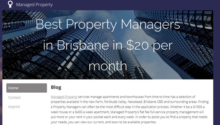 How Much are you paying?If you're paying more than $22 per week for property management, contact Managed Property Brisbane these days to discover extra.T: (07) 3139 1701.