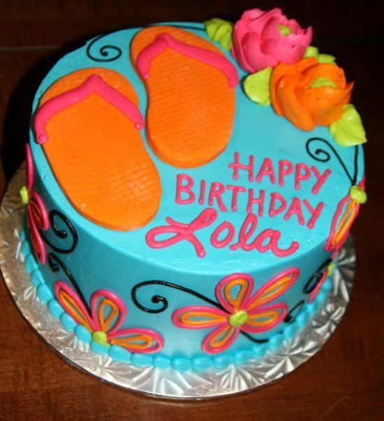 flip flop cake    Whiteflowercake.com