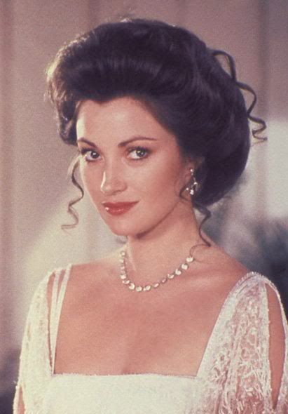 "Jane Seymour as Elise McKenna in one of my favorite movies ever, ""Somewhere in Time."""