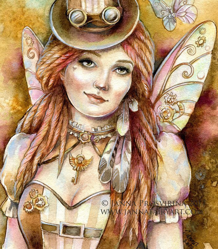 I realised that I have never shared the finished version of this #steampunk #fairy  not my theme but enjoyed working on it  Reference/ inspiration  for this work : stock image by @ida_mary_walker_larsen #instaartwork #illustrations #drawings #psinting #portraits #fantasyart #fantasyartist #jannafairyart #artoninstagram #artsy #tbthursday #tbt