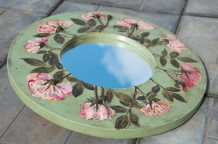"Зеркало ""Английский сад"" - работа дня на Ярмарке мастеров! - Ярмарка Мастеров - ручная работа, handmade"