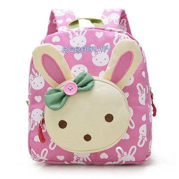 Kids Children Canvas Rabbit Bear Cartoon Lovely Backpack Small School Bags (7 colors)