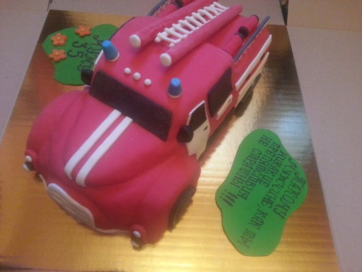Пожарная Машина  #торт_на_заказ_харьков #для_мальчиков #бисквитный_торт