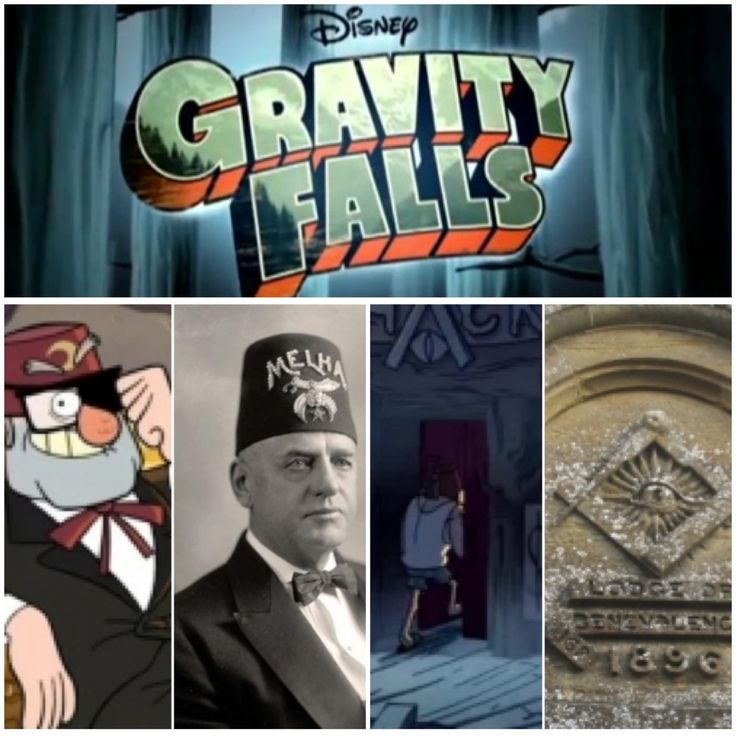 Disney's cartoon show Gravity Falls has all kids of illuminati signs and symbols in it. Trying to indoctrinate the children early to prepare them form service as adults.   Uncle Stan wearing a hat that looks like the shiners hats. Also he is showing the one eye symbolism.   The letter A of the word Shack consists of a compass above and an eye. These are Masonic symbolism.
