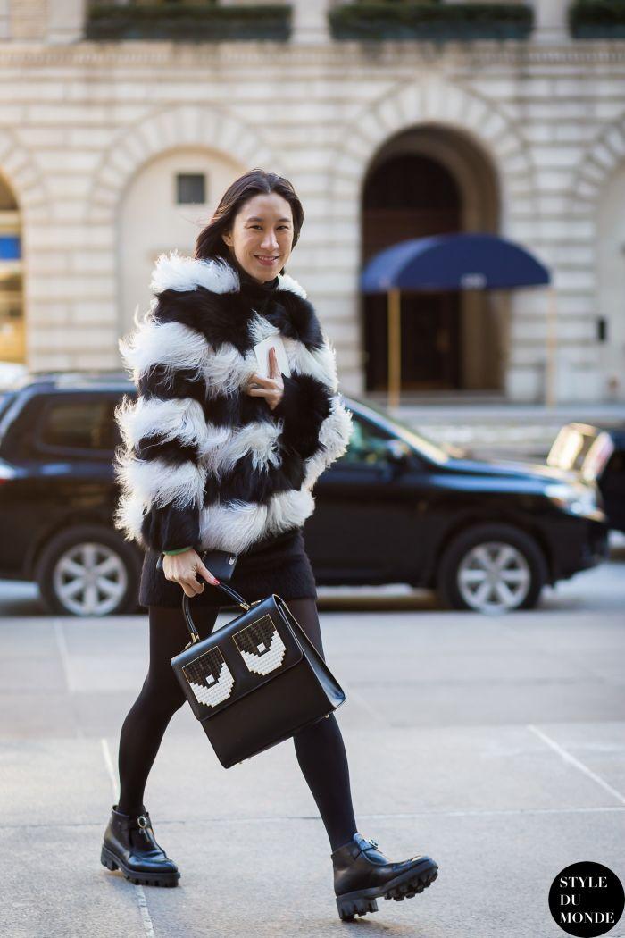 New York Fashion Week FW 2015 Street Style: Eva Chen - STYLE DU MONDE | Street Style Street Fashion Photos