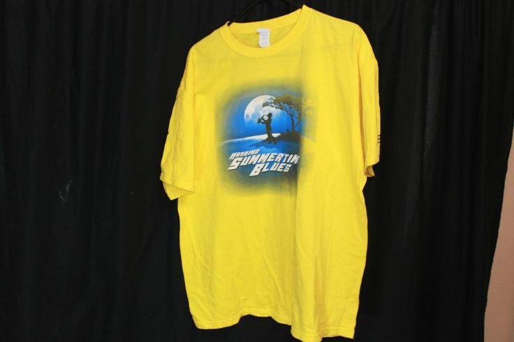 Saxophone Player Crew Shirt XL 100% Cotton Summertime Blues Festival T-Shirt  | eBay #saxaphone #blues