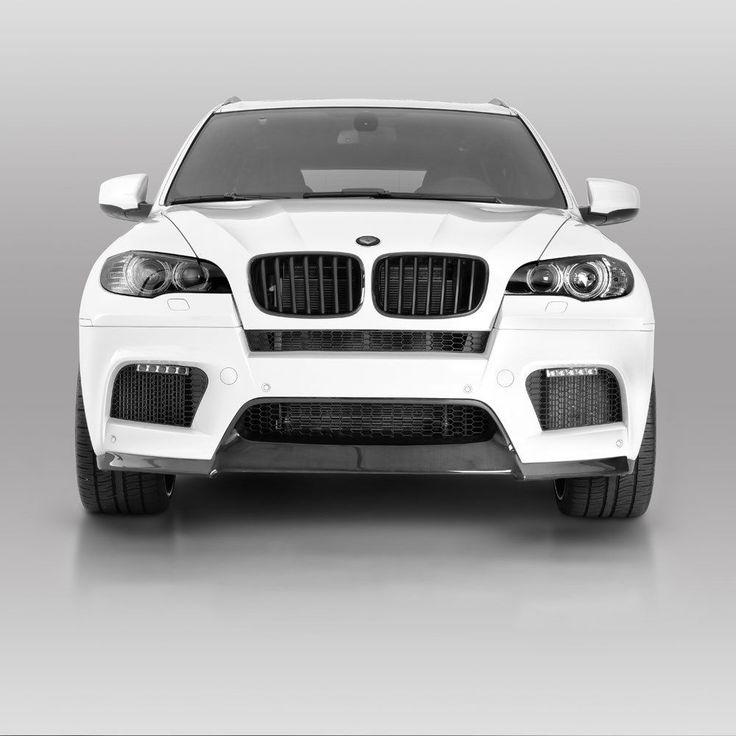 Vorsteiner VRS Aero Front Add On Spoiler Carbon Fiber Fits BMW E70 X5M #Vorsteiner #aero #spoiler #bmw #x5m #vibemotorsports