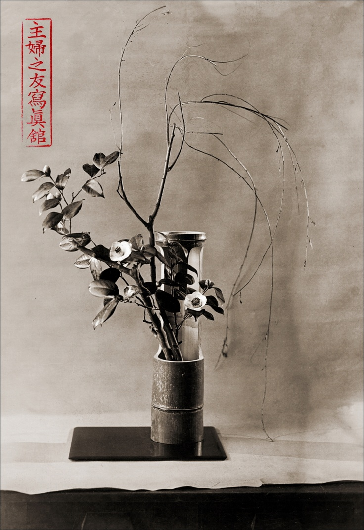 Japanese floral arrangement ikebana gelatin silver for Japanese flower arranging crossword clue