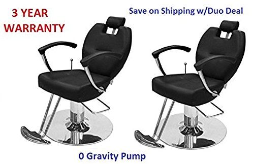 Salon Styling Chair 2 HERMAN Black 3 YR WARRANTY All purpose chair -- Check out the image by visiting the link. #hairstyle