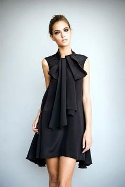 Traje negro de Mujer ¡Ideas increíbles con fotos!   101 Vestidos de Moda   2017 - 2018