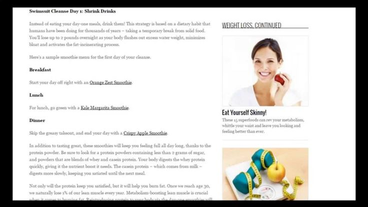 Best Body Cleanse For Weight Loss  Healthy Tips