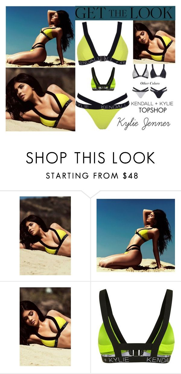 """Kylie Jenner Kendall + Kylie For Topshop Swimwear 2016 #3"" by valenlss ❤ liked on Polyvore featuring Topshop and Kendall + Kylie"