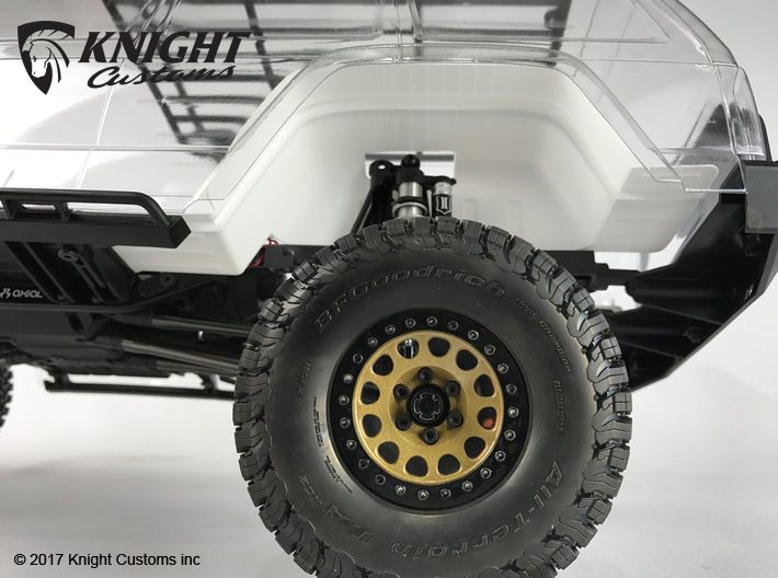 Ac10005 Scx10 Ii Xj Body Inner Fender Rear 3d Printed Shown Fitted