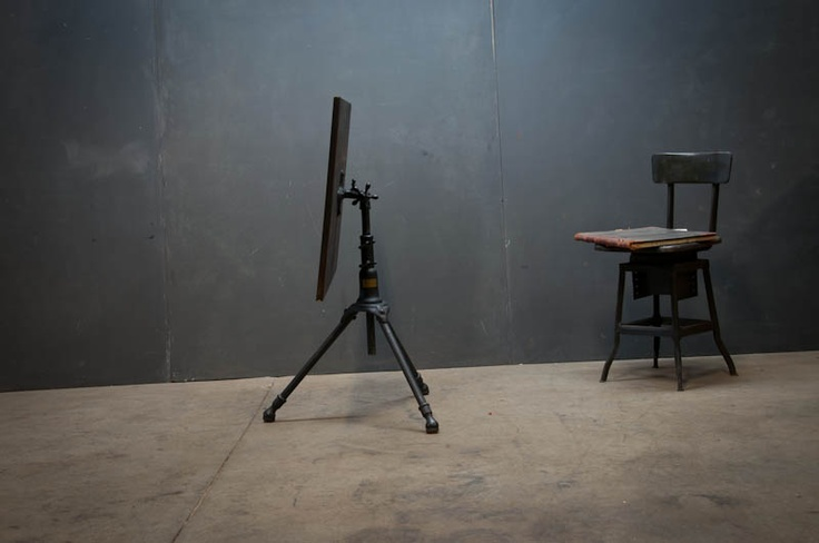 Vintage Hoffman Artist Drafting Table With Cast Iron Tripod