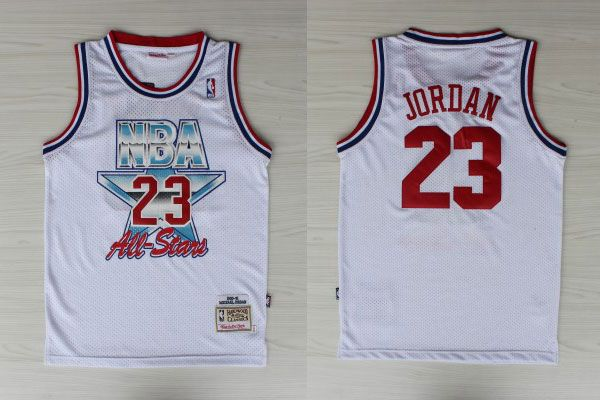 df993b75424 nba mitchell ness chicago bulls 23 michael jordan throwback white 1991 1993 all  star jersey